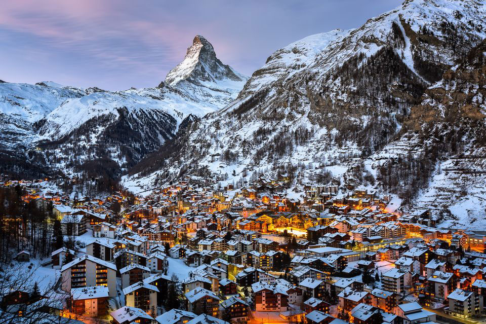 Zermatt-and-Matterhorn-in-the-Morning