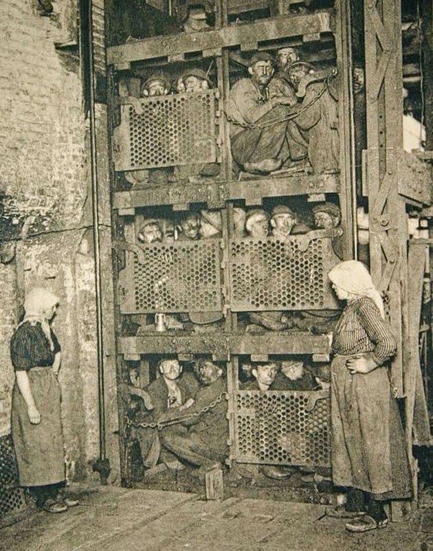 ascensor-lucratori-mina-de-carbune-belgia-1900