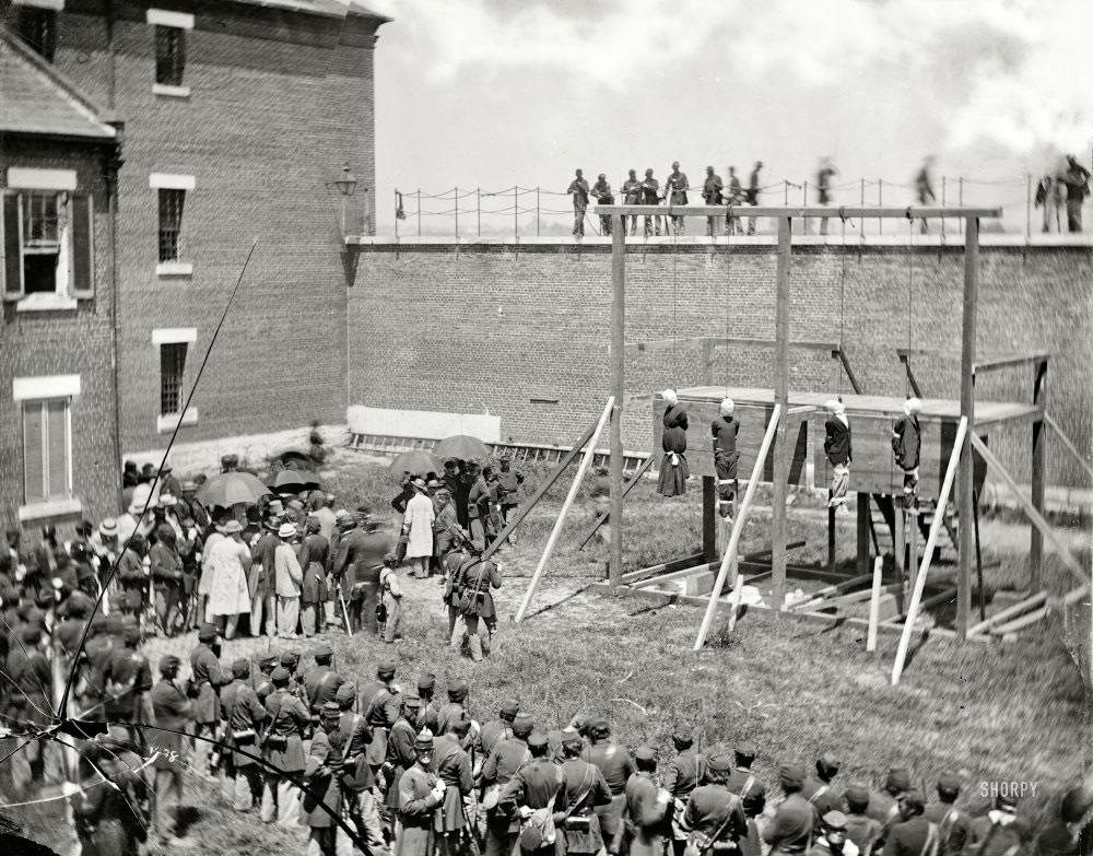 executia-complicilor-asasinului-Abraham-Lincoln