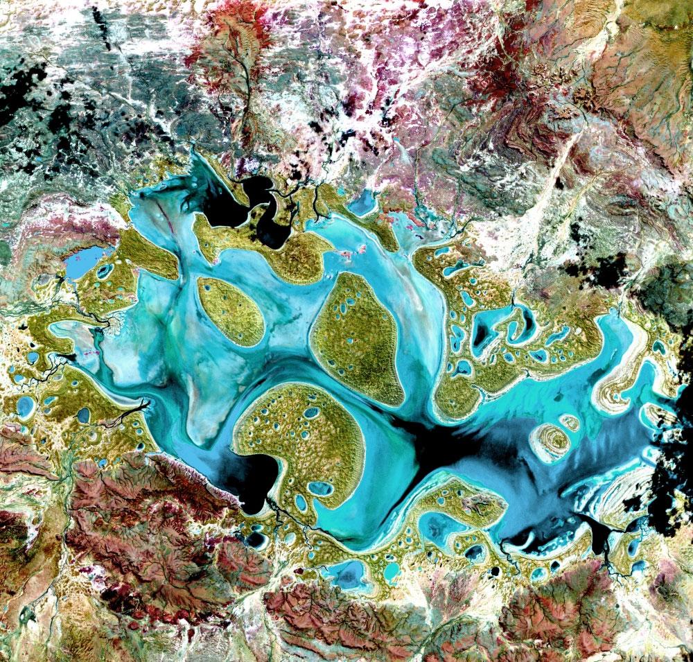 fotografie-satelit-carnegie-lake-australia
