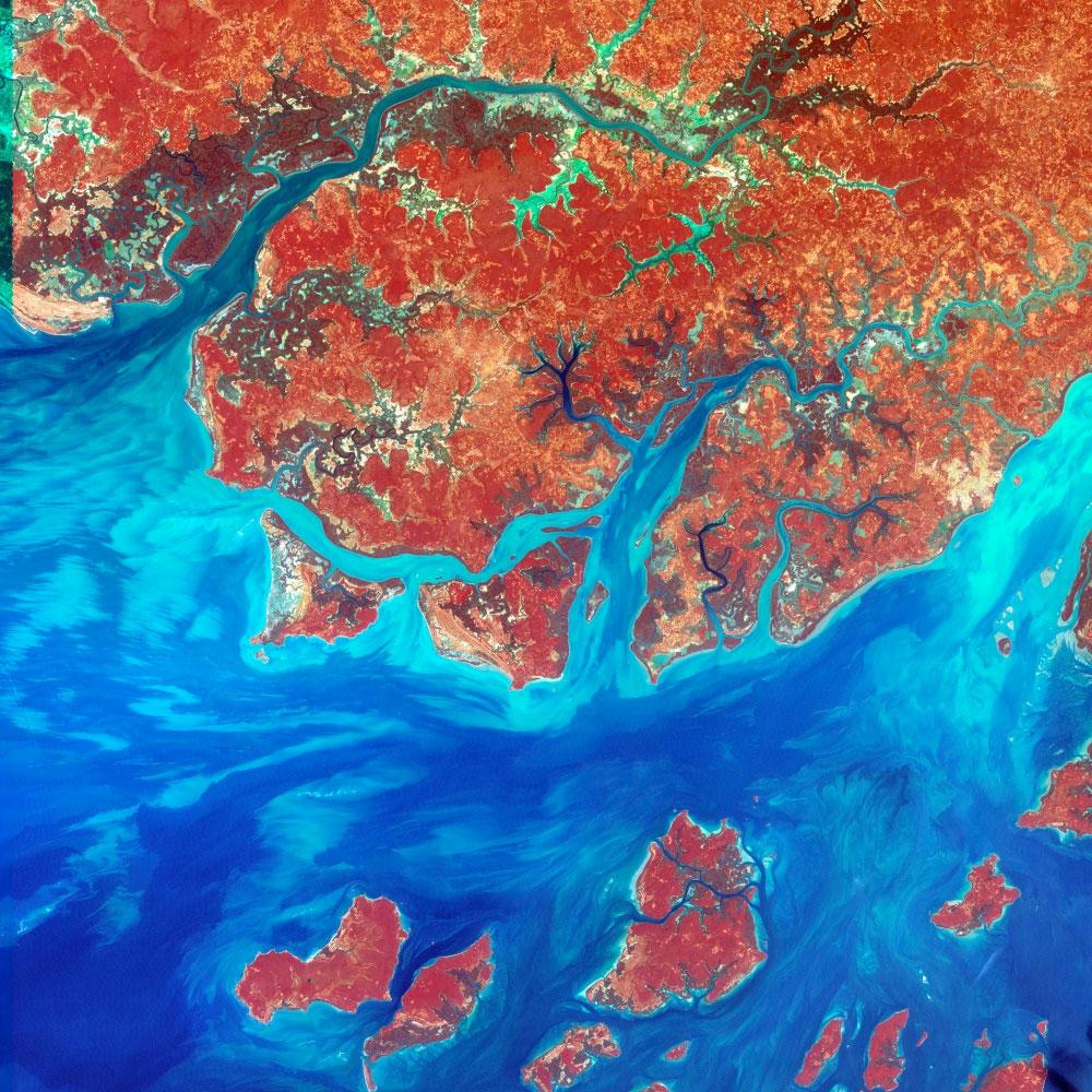fotografie-satelit-guineea-bissau-africa