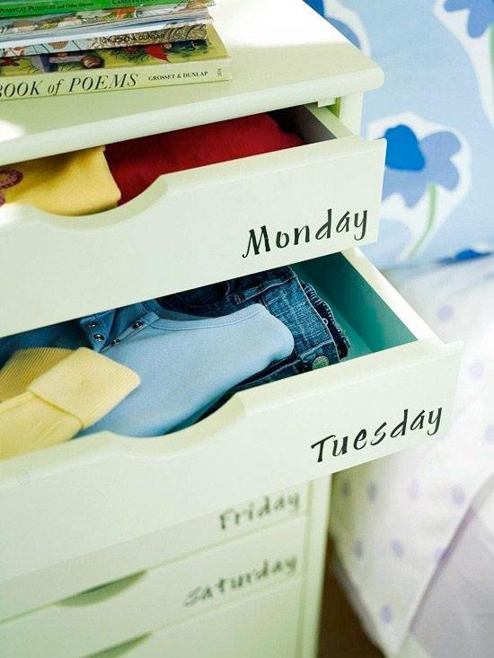sertare-haine-zilele-saptamanii